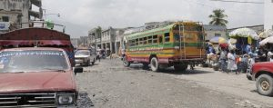 haiti buss panorama 300x119 - Busy market in Port-Au-Prince.