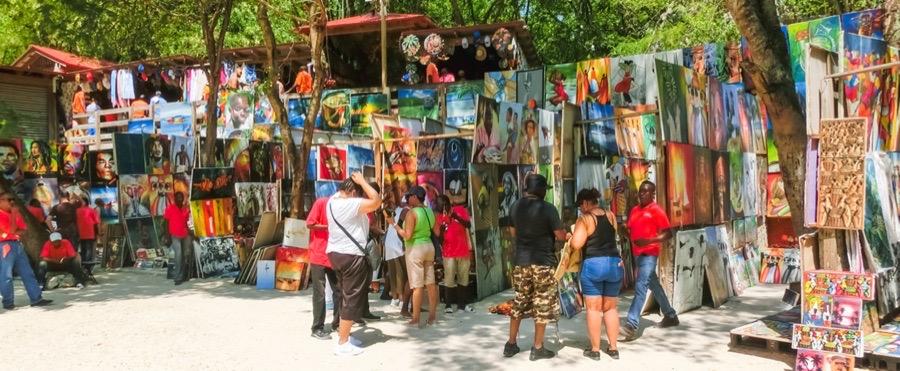 Shopping på Haiti
